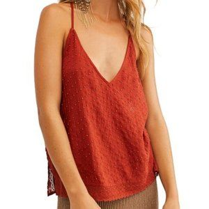 New Free People Blouse Bright Lights Cami Top M
